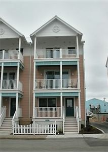 3 Story Ocean View Townhome with Porch and 2 Furnished Decks