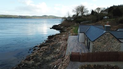 Photo for Luxury Beach Bothy Overlooking Sea with Private Direct Beach Access