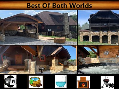 """Photo for """"Best Of Both Worlds"""" - WiFi / Hot Tub / Jacuzzi Tub / Charcoal Grill"""