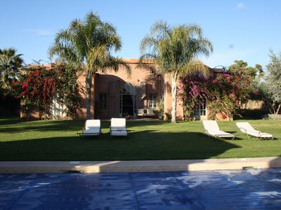 Photo for Spacious, private 3 bedroomed luxury villa with pool and high speed internet