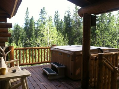 Photo for Amazing Mtn Log Cabin, Hot Tub, Secluded, near Breckenridge!  Serene Awesomeness