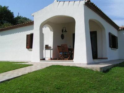 Photo for Panoramic villa with garden and communal pool. APP 1
