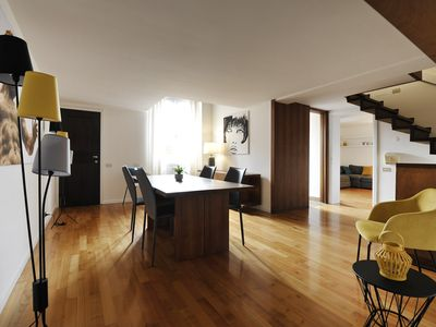 Photo for Classy and artistic two bedroom apartment in the Bologna city centre