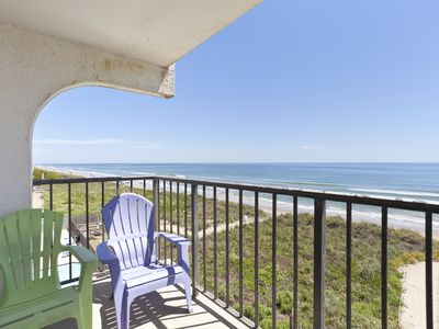 Photo for Adorable Ocean Front Condo with Pool! You can't get any Closer to the Beach than this!