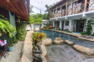 The pool is ready for a swim when you are.