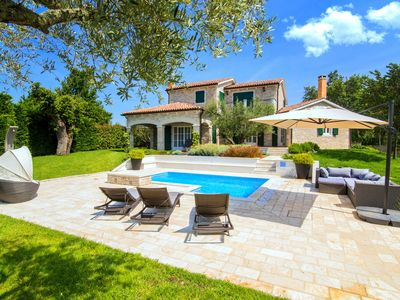 Photo for Luxury villa with private swimming pool and summer kitchen in quiet Baderna nearby Porec