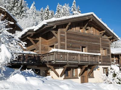 Photo for Ski in Ski out chalet. Great location on the Pleney. 5 bedrooms sleeps 10 people.