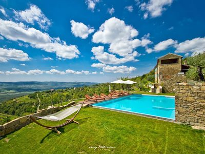 Photo for Stunning stone villa with a breathtaking view