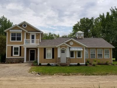 Photo for New Listing! Multi-Family Beach House w Lake MI Access, Tram, Fire Pit, Hot Tub!