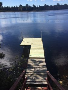 Photo for 3 Bedroom Cabin on the lake with Recreational trail access