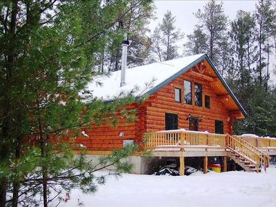 Photo for Unique Handmade Log Cabin: Unplug and feel the peace. Ask about our specials