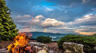 """""""WEST WING"""" FIRE-PIT VIEW (Taken by June 2015 Guest)"""