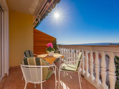 Photo for Apartment with a terrace overlooking the picturesque Adriatic