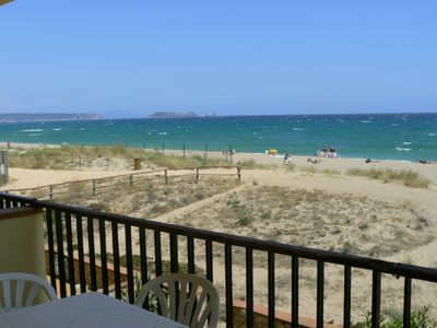 Photo for BEACH OF PALS-COSTA BRAVA. Apartment direct to the sea.