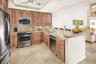 Full kitchen with all the amenities and cooking supplies you'll need!