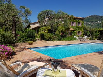 Photo for Near CANNES-GRASSE beautiful property, protected heatable pool, ping-pong table