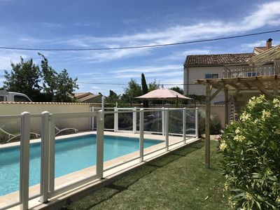 Photo for Spacious, Light and Airy, 4 Bedroom/2 Bathroom Stone House With  7m X 4m Pool