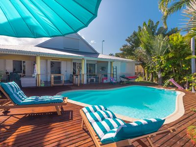 Photo for Children's games - villa with pool in St Gilles les bains