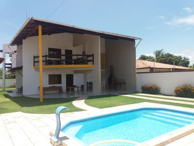 Photo for Beautiful house with private pool 250m from the beach of ipioca.