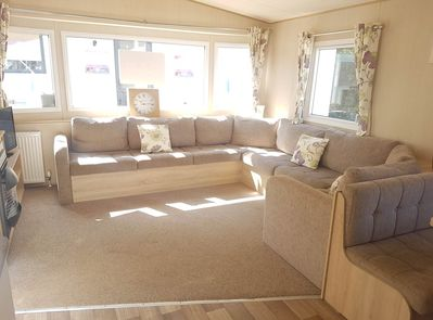 The Living Area of our holiday home  on the Isle of Wight.