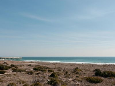 Photo for Oceanfront townhouse with sunbathing deck & unobstructed mile long views