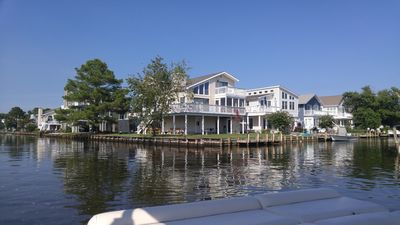 Photo for South Bethany Beach Waterfront corner property with boat dock, 2 blocks to beach