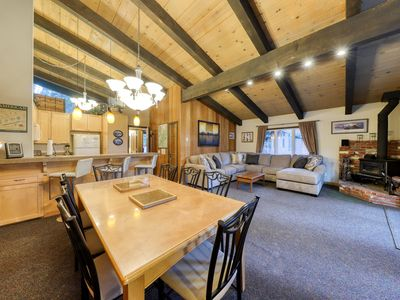 Photo for Cozy ski lodge w/ a full kitchen, wood stove, & furnished deck - near the slopes