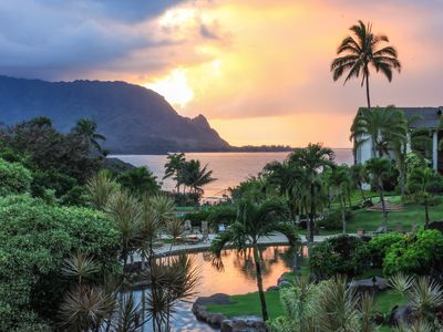 Photo for Hanalei Bay Resort Kauai Studio Condo with Ocean View Sleeps up to 4