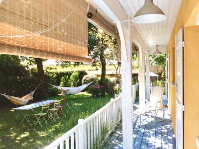 Photo for The charm of the Arcachon Basin .A house with pool and garden in Andernos-les-Bains