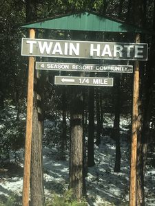 Welcome to Twain Harte, if it is your first visit, it won't be your last!