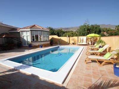 Photo for Comfortable holiday home with private pool for up to 8 people, 1km to the beach