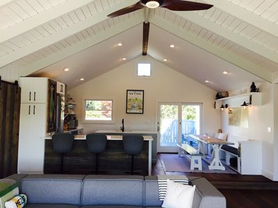 kitchen + living room (cathedral ceilings)