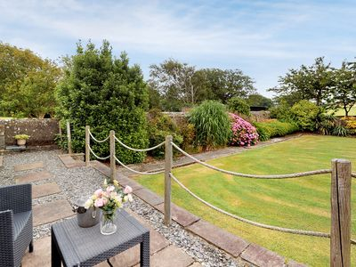 Photo for In a lovely rural position in the grounds of the owner's farm just outside Abersoch, this charming c