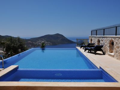 Photo for Luxury 5 Bedroom Villa with Heated (63 sq m) Private Infinity Pool and Jacuzzi