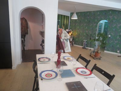 Photo for Nice apartment 125m2 - friendly & authentic neighborhood at the foot of Mon