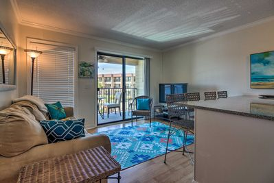 Sitting steps from the beach, this condo can't be beaten!