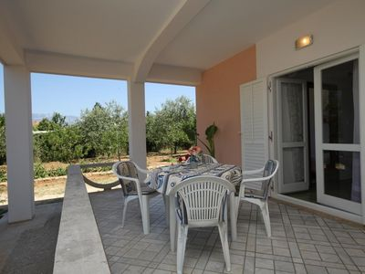 Photo for Two bedroom apartment with terrace Novalja, Pag (A-6490-b)