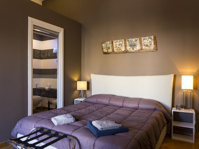 Photo for Deluxe One-Bedroom Apartment With Luxury Balcony FREE WI-FI