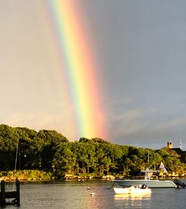 From our patio, September 2018 Rainbow in Lords Point!!