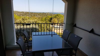 Photo for 2 rooms renovated sea view in village club Restanques Pierre & Vacanc