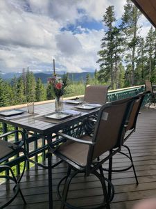 Photo for Cabin w/ Rocky Mountain Views! Venture out, Relax in the Hot Tub, Grill Outside!