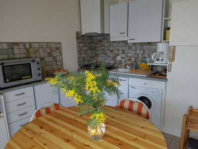 Photo for Studio beach and shops on foot private parking and wifi