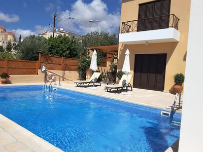 Photo for Beautiful, spacious detached villa with private pool and lovely views of the sea