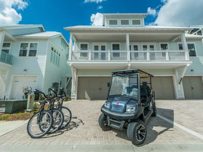 Photo for NEW 6 Seater Golf Cart! Large Resort Style Pool! Walk to Hub ~ Beach Life at Prominence North 30A