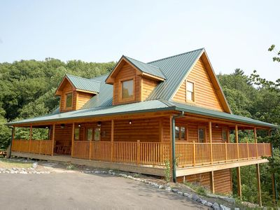 Photo for Save up to 20% on Spring stays-Pet Friendly Cabin w/Wrap-Around Deck, Game Room & WiFi.