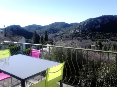 Photo for holiday house with terrace, panoramic view, lake olivettes
