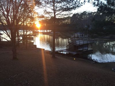Photo for PRIVATE BOAT RAMP - 5 Bedroom lakefront home, deep water in a quiet cove