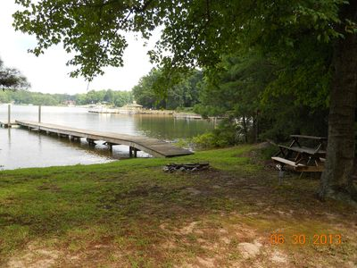 Photo for Cozy Cottage: 180 Ft Shoreline, Panoramic View of Cove & Lake; Pet Friendly