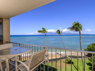 Photo for Royal Kahana 409- Luxury OCEAN FRONT Condo Stunning views! New Furnishings!