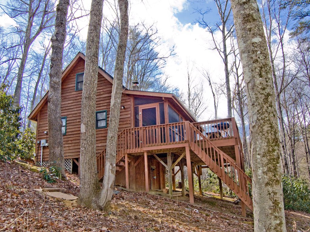 Cozy cabin w hiking trail to new river acc homeaway for Cabin rentals near hiking trails